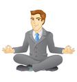 Business meditation vector image vector image