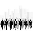 business people in big city vector image vector image
