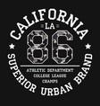 california tee shirt print with slogan and vector image vector image