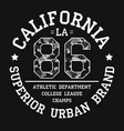 california tee shirt print with slogan vector image vector image