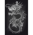 Chinese dragon on chalkboard backdrop vector image vector image