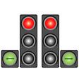 City traffic light vector image