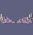 cityscape night background hand drawn vector image