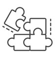 complete puzzle solution icon outline style vector image