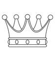 crown contour vector image