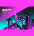 cryptocurrency isometric concept blockchain vector image vector image