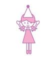 cute party girl cartoon vector image vector image