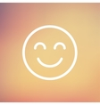 Cute smile thin line icon vector image vector image