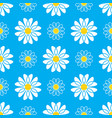 daisy seamless pattern white daisies on a blue vector image