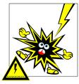 danger warning vector image vector image