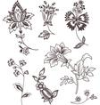 decor floral elements vector image vector image