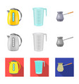 design of kitchen and cook sign collection vector image