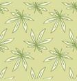 doodle seamless ganja ornament pattern artwork in vector image vector image