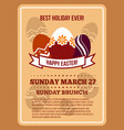 easter invitation flyer poster template vector image vector image