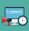 electronic commerce with computer vector image