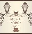 elegant frame menu or invitation card for design vector image