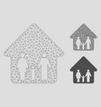 family home mesh network model and triangle vector image vector image