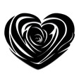 Flower love heart valentine day tattoo vector image vector image