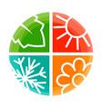 four nature seasons circle vector image vector image