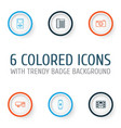 gadget icons set collection of player charge vector image