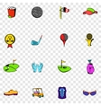 Golf set icons vector image vector image