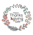 hand drawn happy thanksgiving typography in autumn vector image vector image
