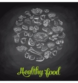 Hand drawn with healthy food vector image vector image