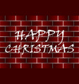 happy christmas - white and red vector image vector image