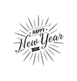 Happy New Year typographic design vector image vector image