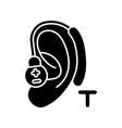 hearing loop black glyph icon