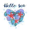 heart of sea shells vector image vector image