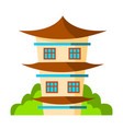 house japanese korea chinese classic vector image