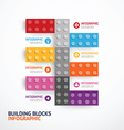 Infographic color building blocks banner Template vector image vector image