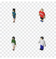 isometric human set of male pedagogue vector image vector image