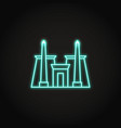 karnak temple icon in glowing neon style vector image vector image