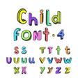 kids cartoon colorful alphabet vector image vector image
