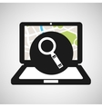 laptop map gps searching vector image