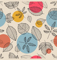 leaves seamless pattern hand drawn autumn vector image vector image