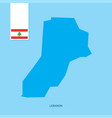 lebanon country map with flag over blue background vector image