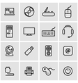 line computer icon set vector image