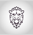 lion logo icon design vector image
