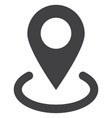 location flat icon symbol vector image