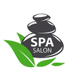 logo stones for spa salon vector image