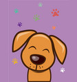 love me love my dog cartoon design vector image