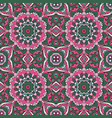 mandala oriental ornament relaxing doodle vector image vector image