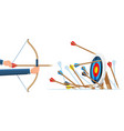 many arrows missed target mark vector image
