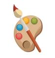 Paint brush color palette design