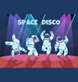 party astronauts retro dancing spaceman disco vector image vector image