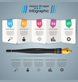pen ink education icon business infographi vector image