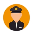 police avatar character icon vector image vector image